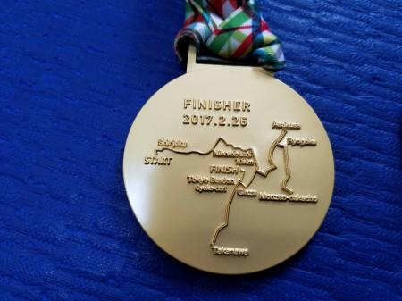 東京マラソンメダル裏