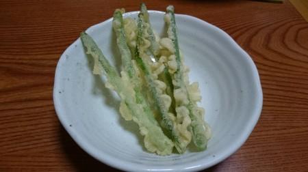 みょうがの茎の天ぷら