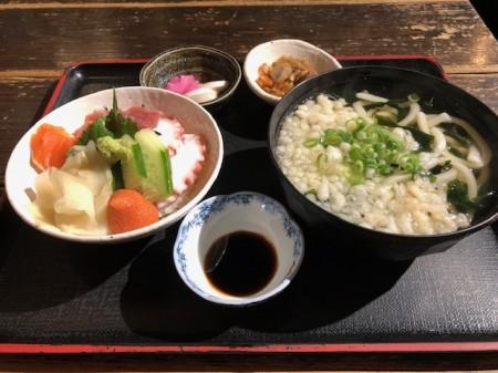 海鮮丼&うどん